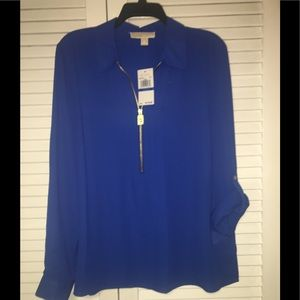 NWT Michael Kors royal blue shirt